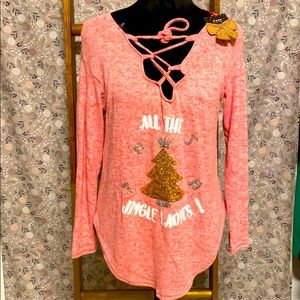 NWT All the Jingle Ladies cleavage top